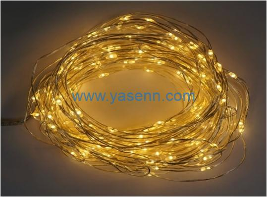 LED Curtain Light YSLL19021 400L LED Copper Wire Cluster Curtain Light With Adapter