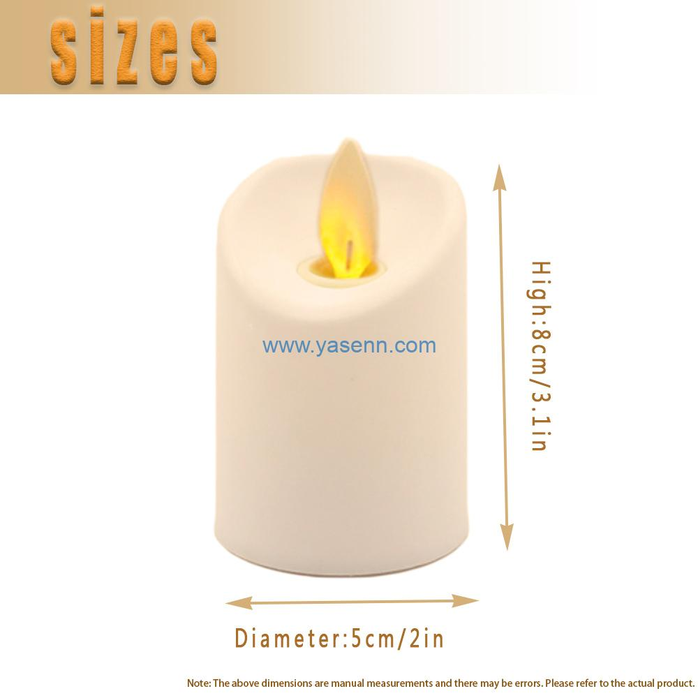 Jumping flame LED candle light