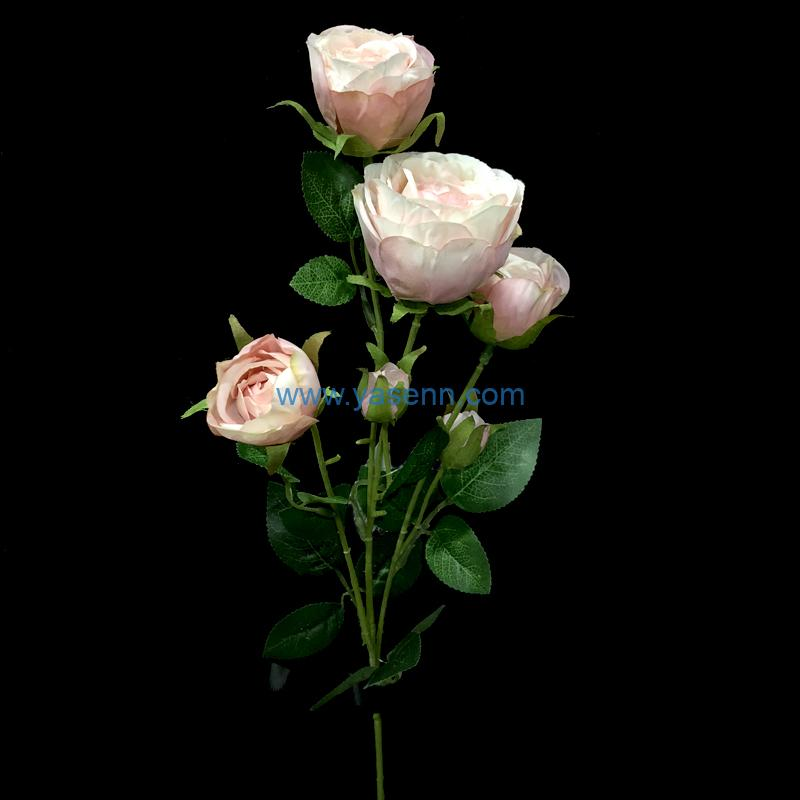 3 Branches Rose artificial flowers