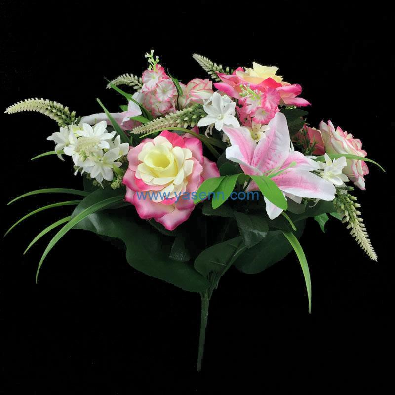 Artificial Flowers Rose Lily Bushes