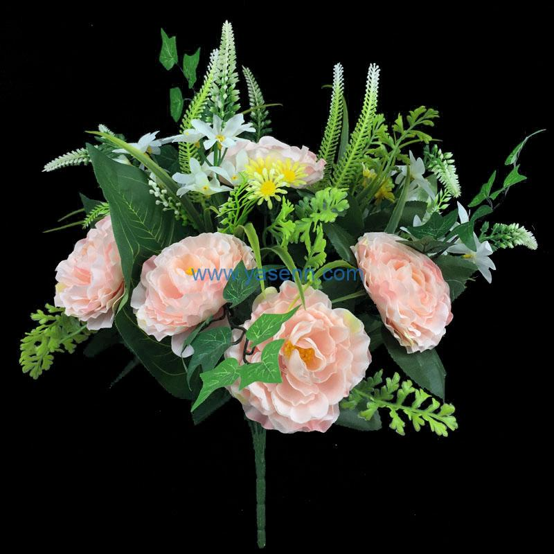 Artificial Flower 18 Branches Rose Flower Bridal Bouquet for Wedding Decor DIY Home Party
