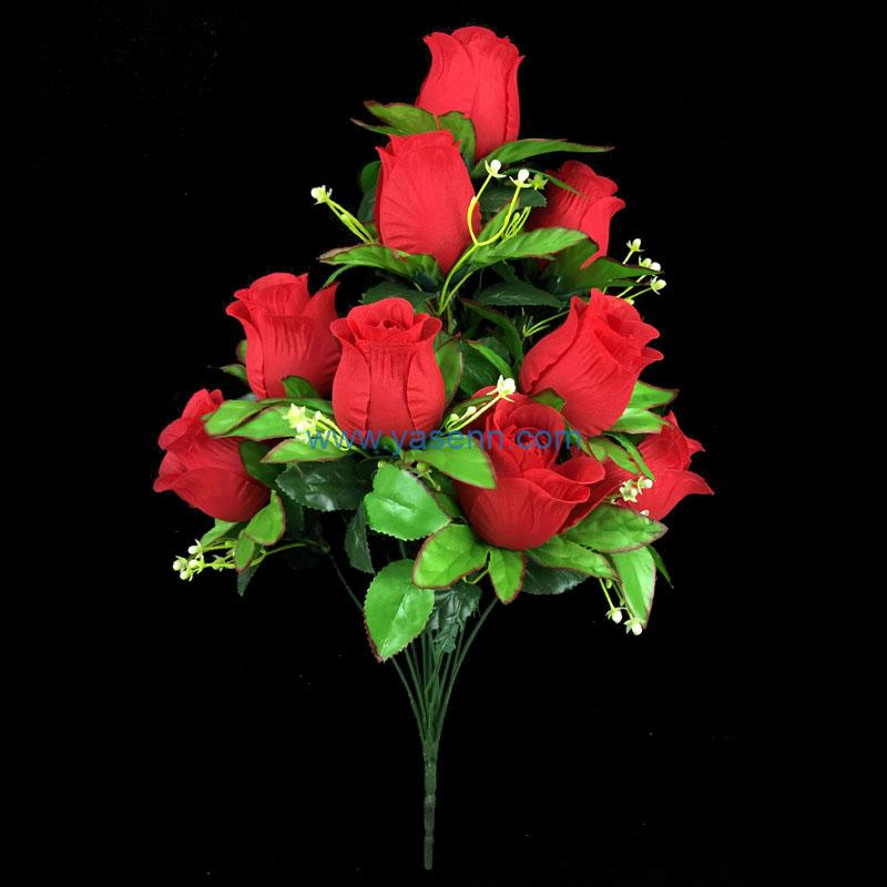 Artificial Flower 18 Branches Rose Faux Flower