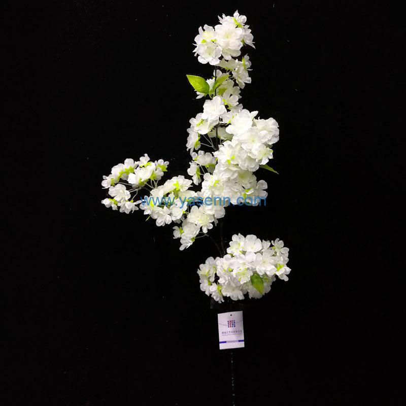 4 Branches Cherry Blossoms Artificial Stems Pastoral Style Artificial Flower Home Decoration Wedding Decorative Flowers