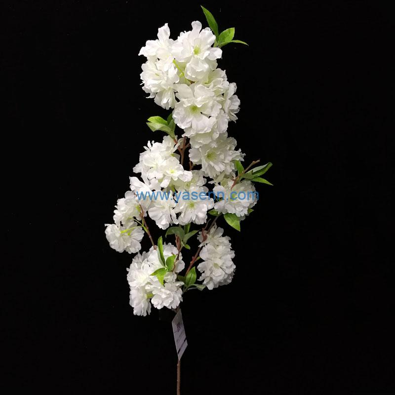 3 Branches Cherry Blossoms Artificial Stems Pastoral Style Artificial Flower Home Decoration Wedding Decorative Flowers