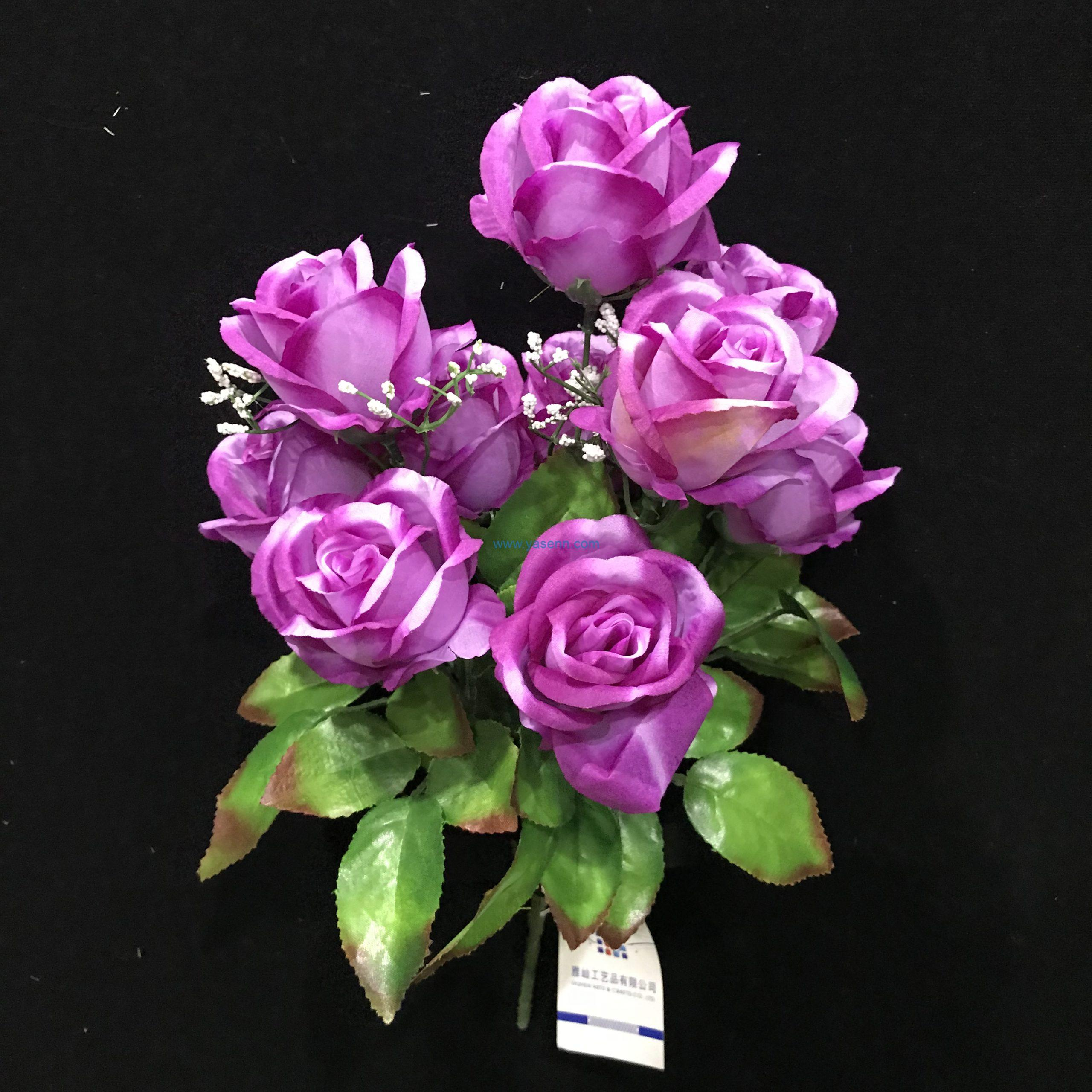 10 Branches Rose Artificial Flowers Height 44cm for Party Decor