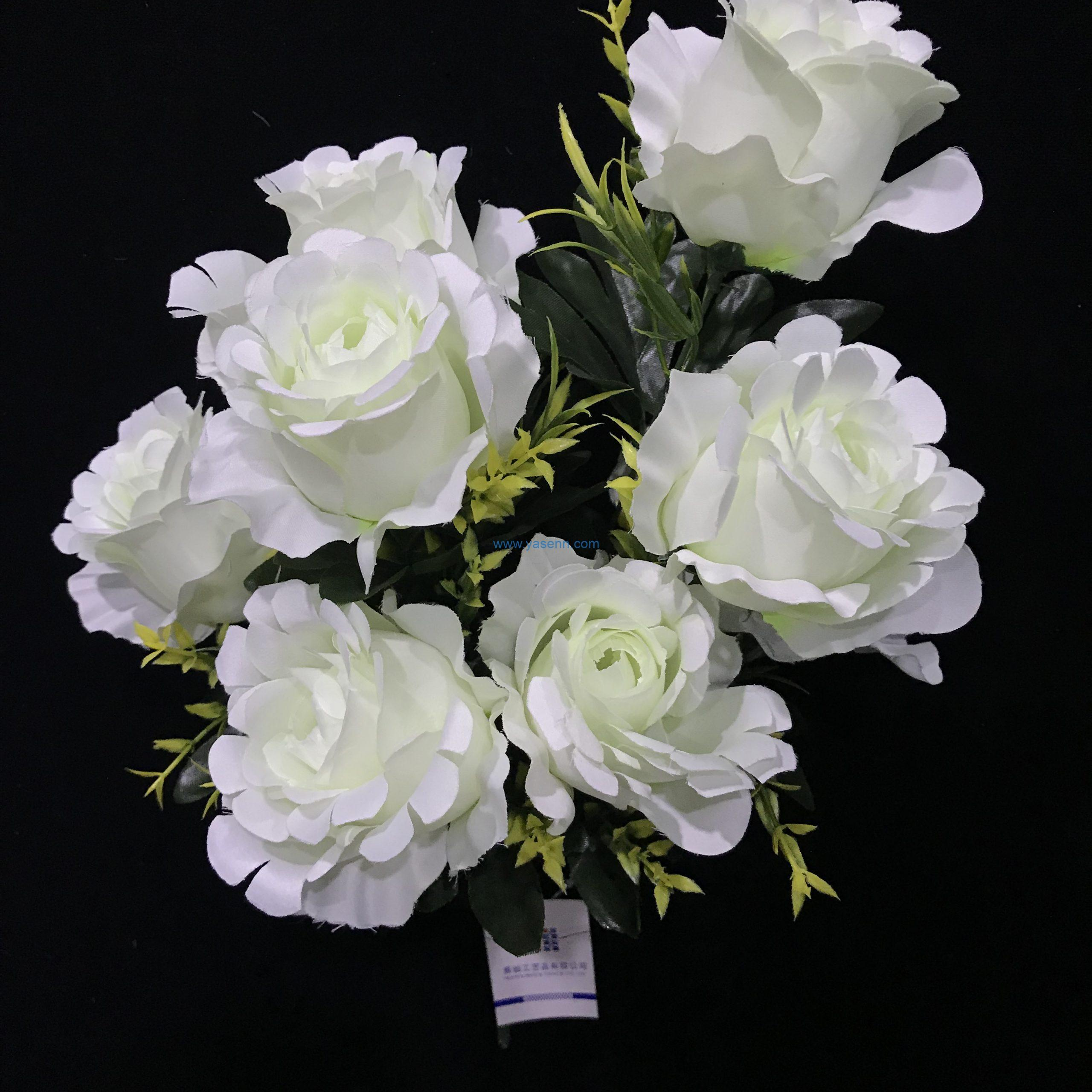10 branches rose Silk Flowers