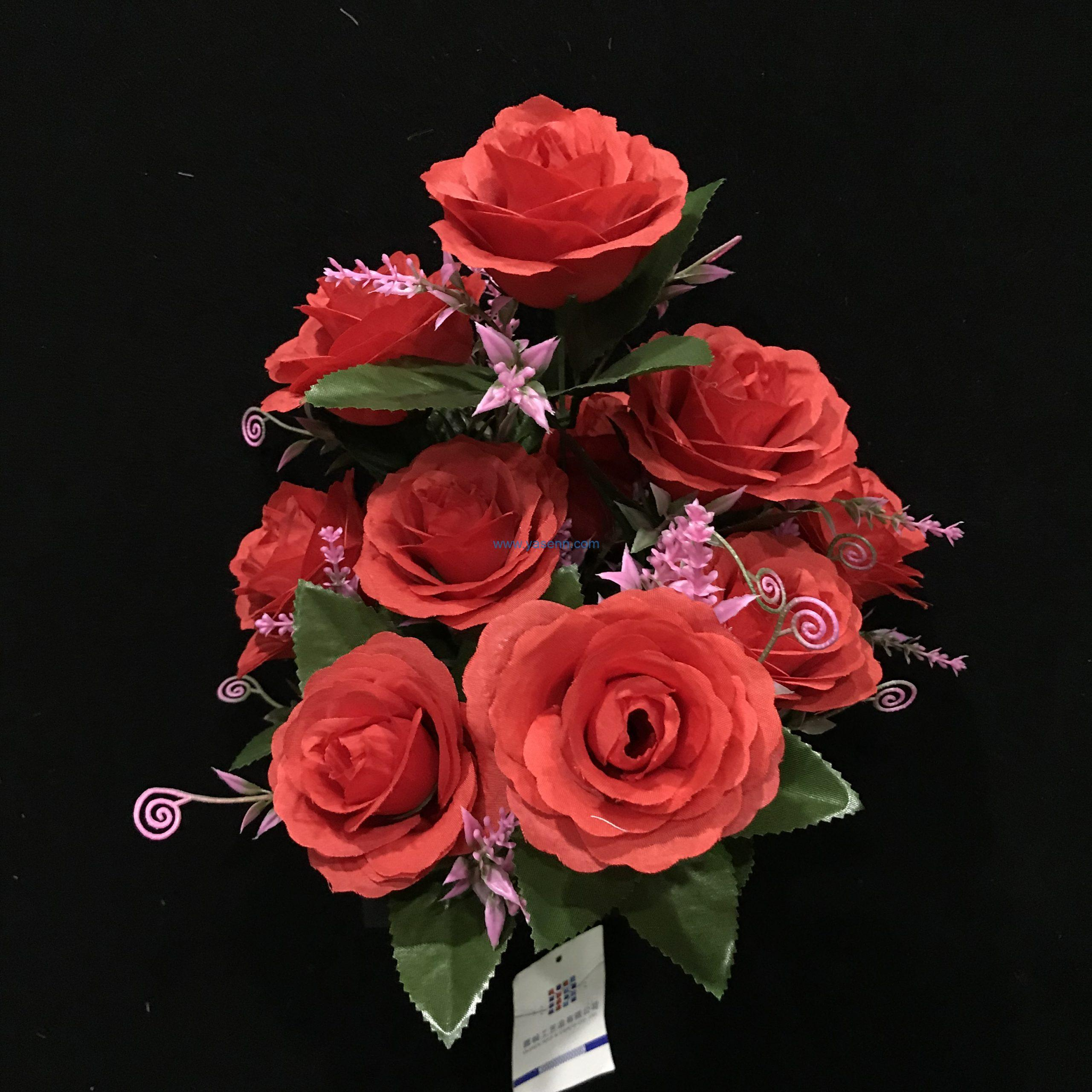 Artificial 9 Branches Rose Artificial Greenery