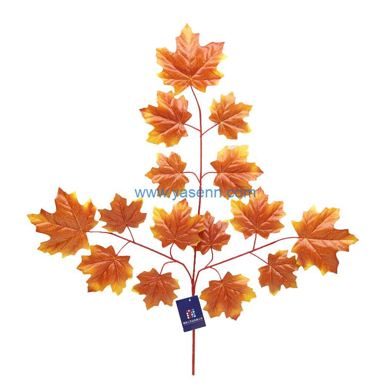 Artificial 3 Branches Maple Leaves