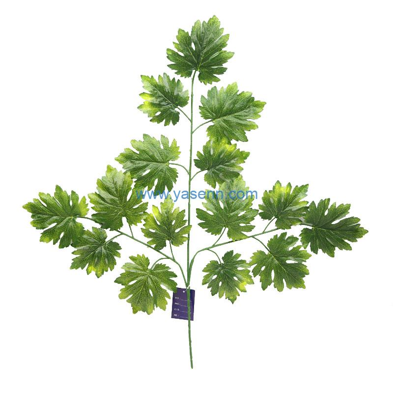 3 Branches Round Maple Artificial Leaves