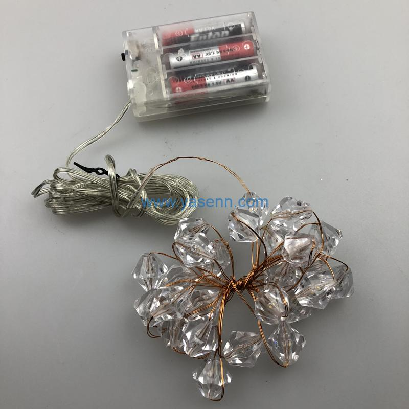 Christmas Lights YSLB005 20L LED Copper Wire Light With 3*AABattery Box