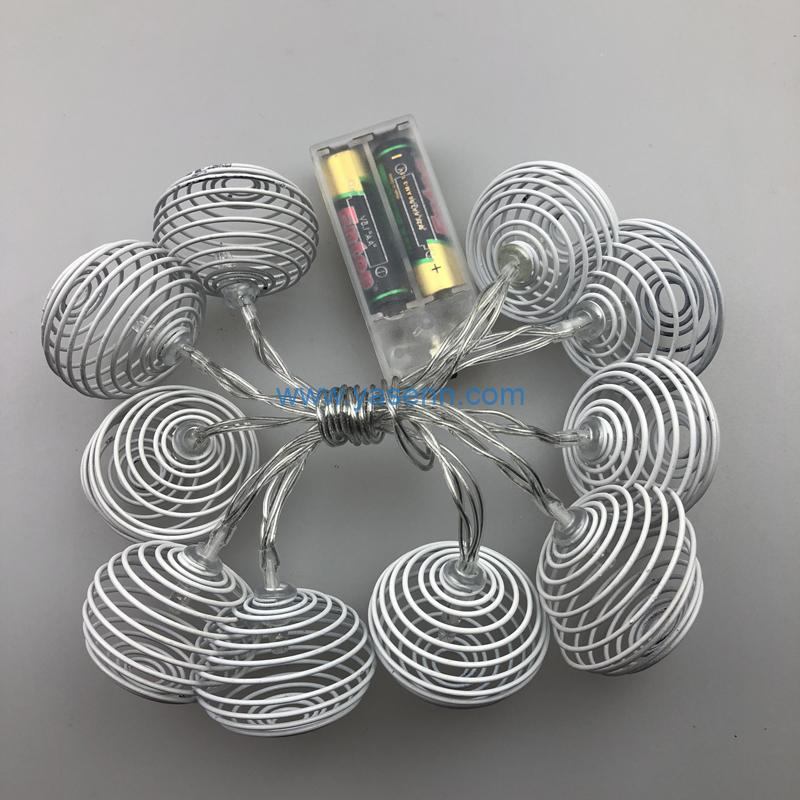Decorative Lights YSLB018 10L LED Battery Light With 2*AABattery Box