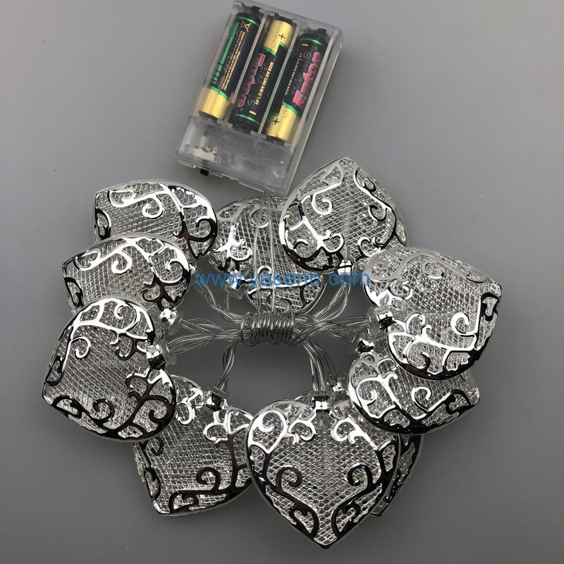 LED Battery Light YSLB028 10L LED Battery Light With Heart Decoration