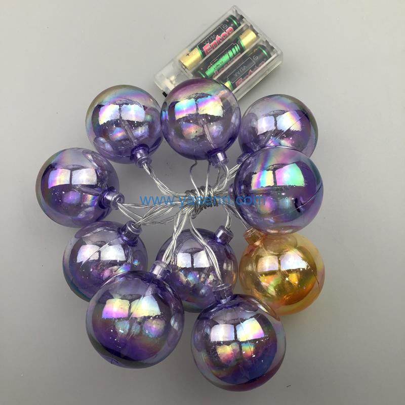 Fairy Lights YSLB029 10L LED Battery Light With Color Ball Decoration
