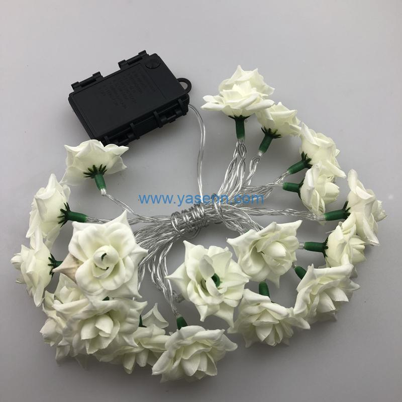 Fairy Lights YSLB030 20L LED Battery Light With Camellia Decoration