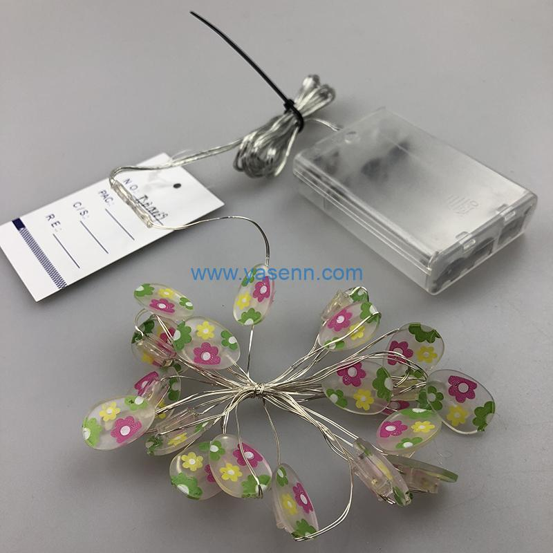 Party Lights YSLB034 20L LED Copper Wire Light With Small Flower Transparent Decoration