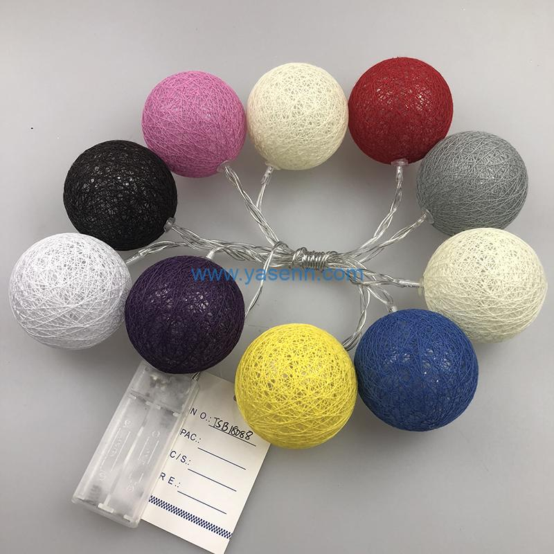 Christmas Lights YSLB053 10L LED Battery Light With Yarn Ball Decoration