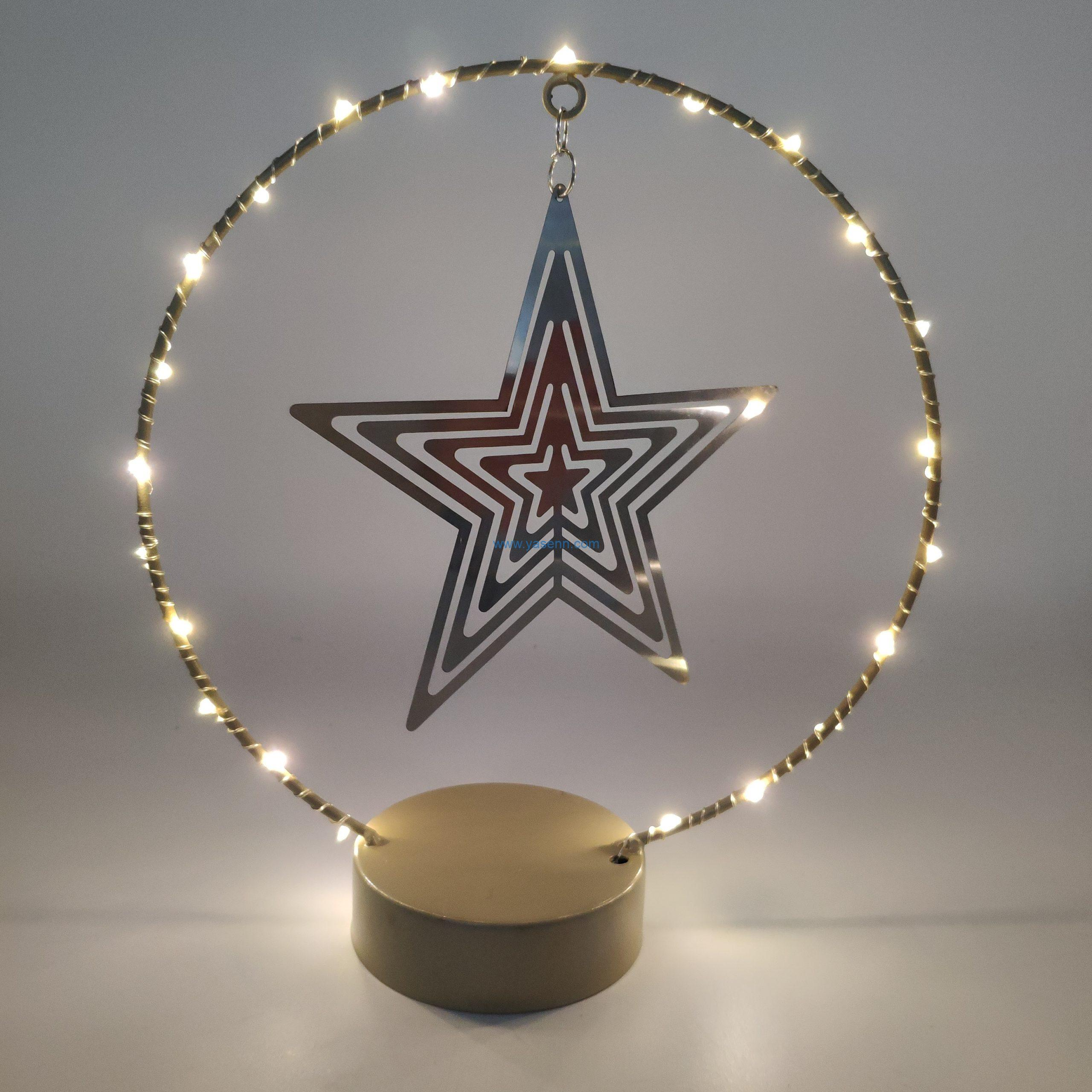 LED Star Light YSLB068 20L LED Copper Wire Light With Star in the Circle Design