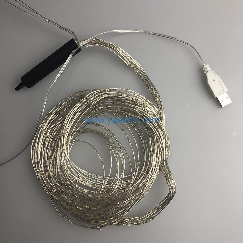 Xmas Copper Light YSLL008 720L LED Copper Wire Light With USB Supply