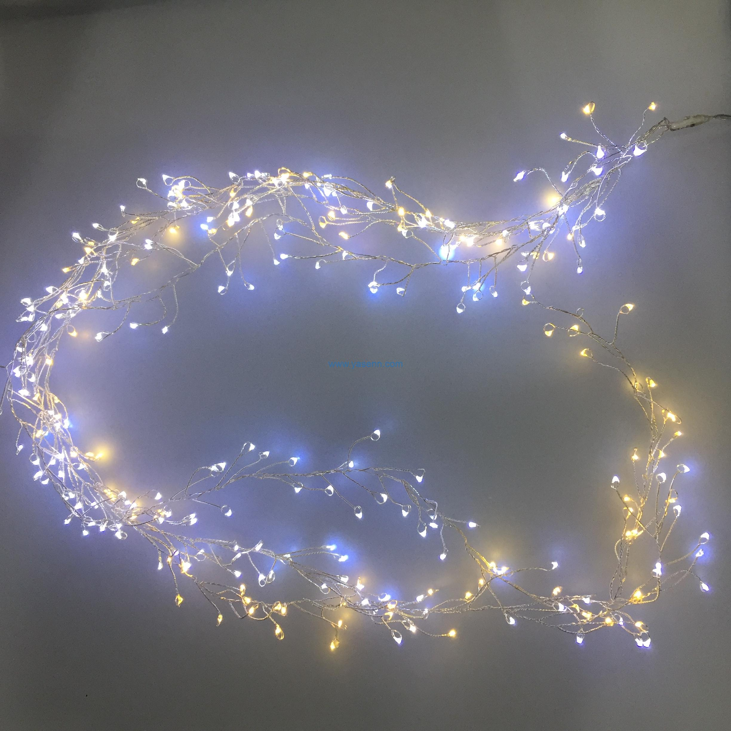 Cluster light YSLL027 300L LED Cluster Copper Wire Light With Adapter