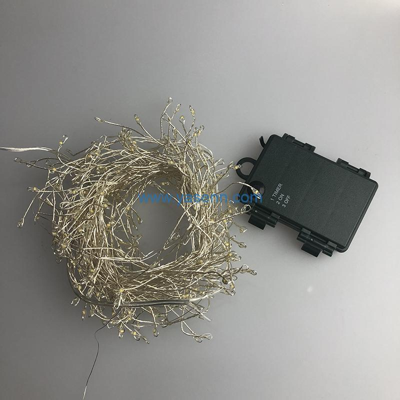Cluster Copper Wire Lights YSLL029 300L LED Cluster Copper Wire Light With Battery Box