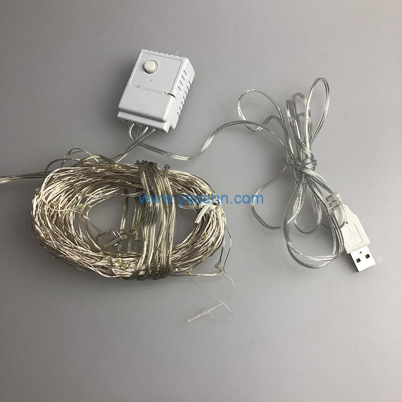 LED wire lights YSLL031 153L LED Copper Wire Light With USB Supply