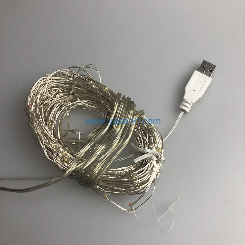 Christmas USB Lights YSLL038 100L LED Copper Wire Light With USB Supply