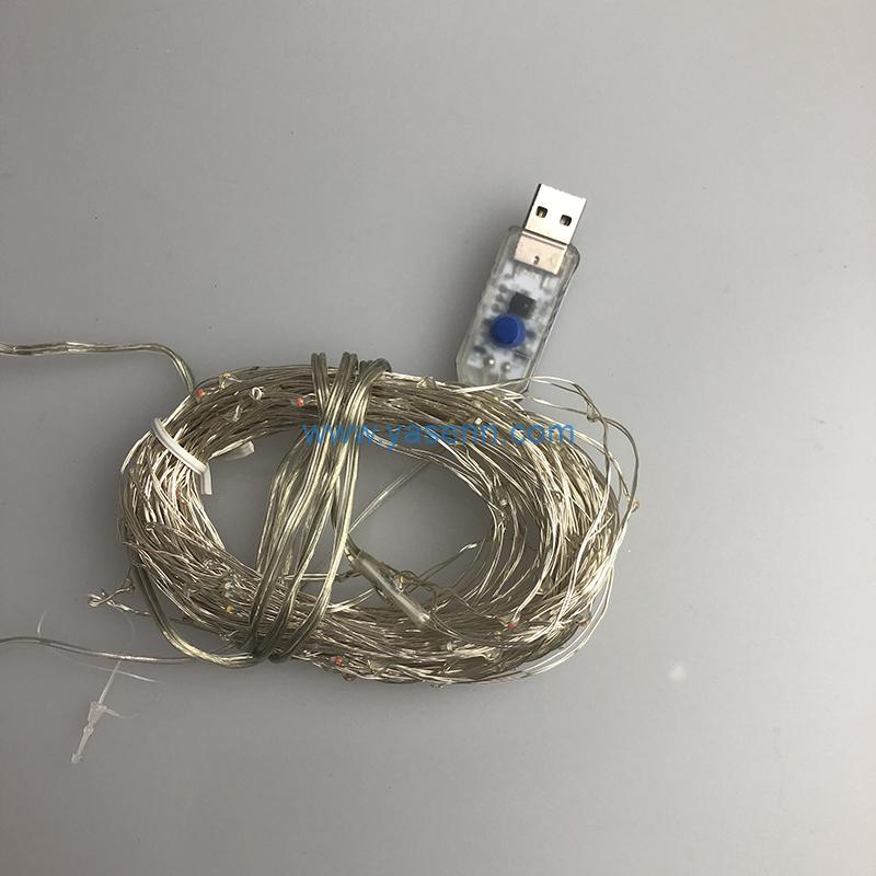 USB lights YSLL040 100L LED Copper Wire Light With USB Supply