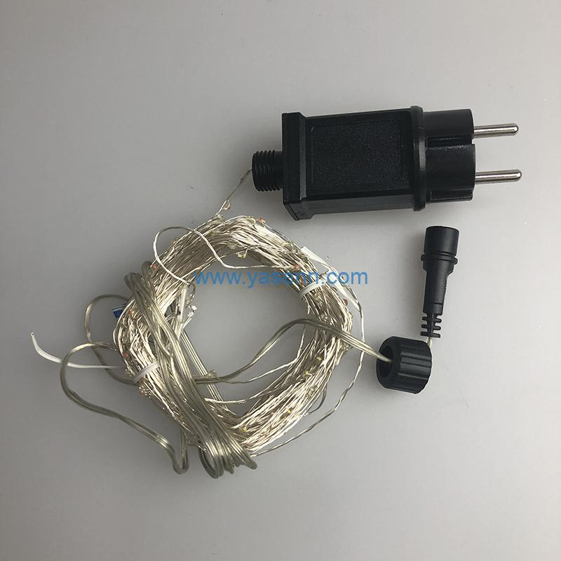 200L Lights YSLL056 200L LED Copper Wire Light With Adapter