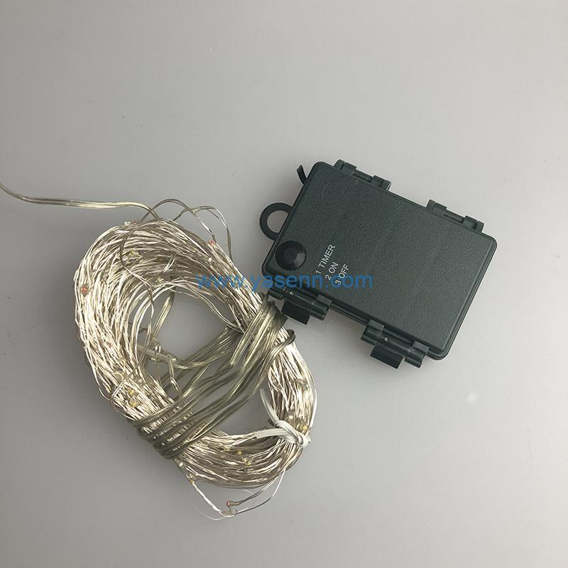 Christmas Battery Light YSLL064 100L LED Copper Wire Light With Battery Box