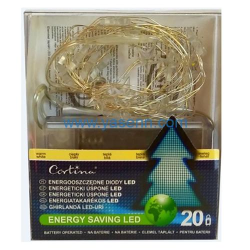 Copper wire lights YSLL19014 20L LED Copper Wire Light With Battery Box