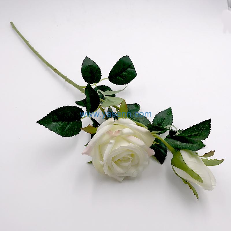 Single 2 Branches Rose artificial flowers