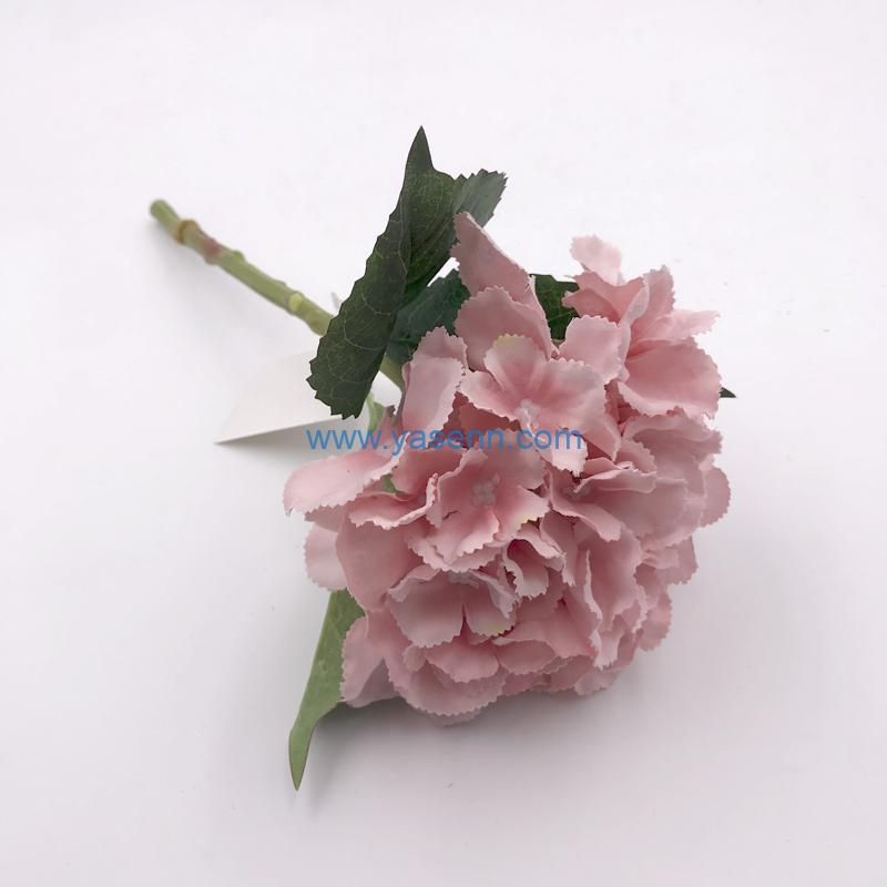 Artificial Flowers Single Hydrangea Present for Important People Glorious Moral Office Coffee Parties and Wedding