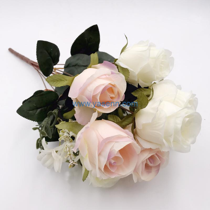 Artificial Flowers 11 Branches Rose Present for Important People Glorious Moral Office Coffee Parties and Wedding