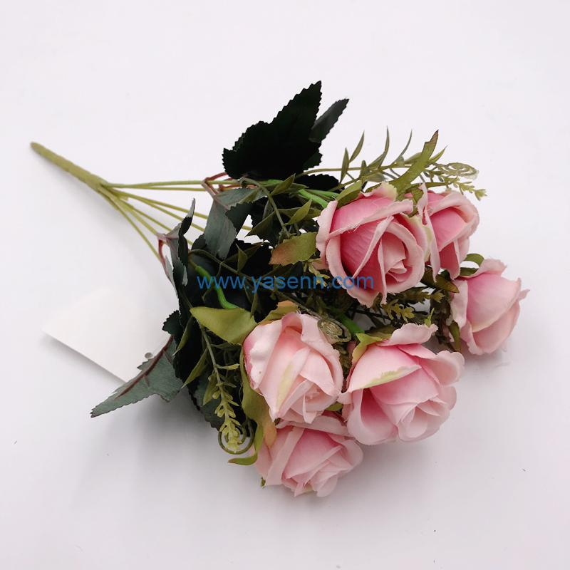 Artificial Flowers 7 Branch Roses