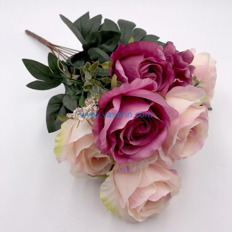 11 Branches Rose Silk flowers