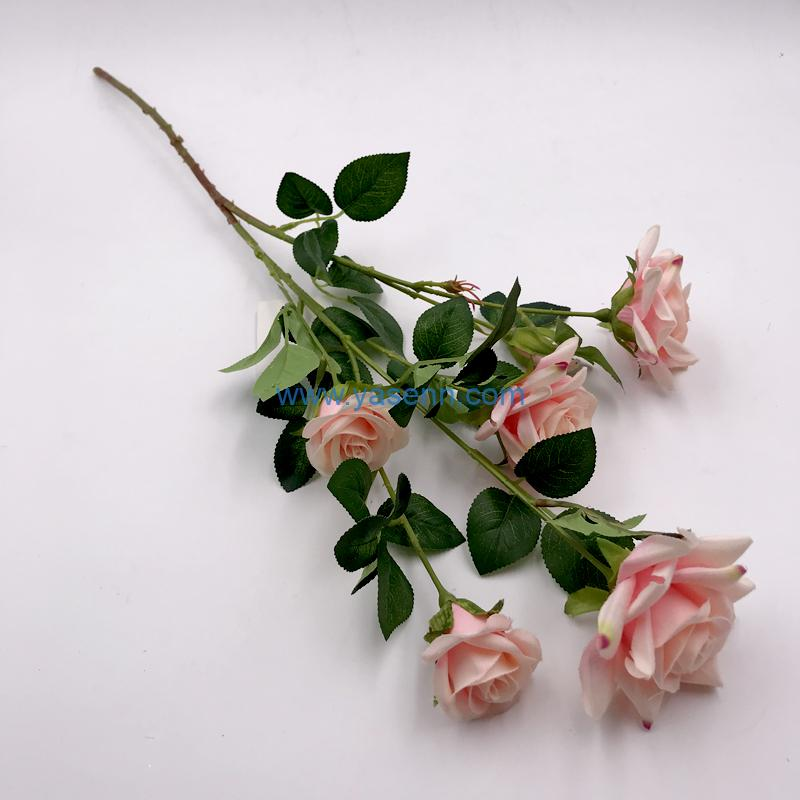 2 Branches Rose Silk flowers