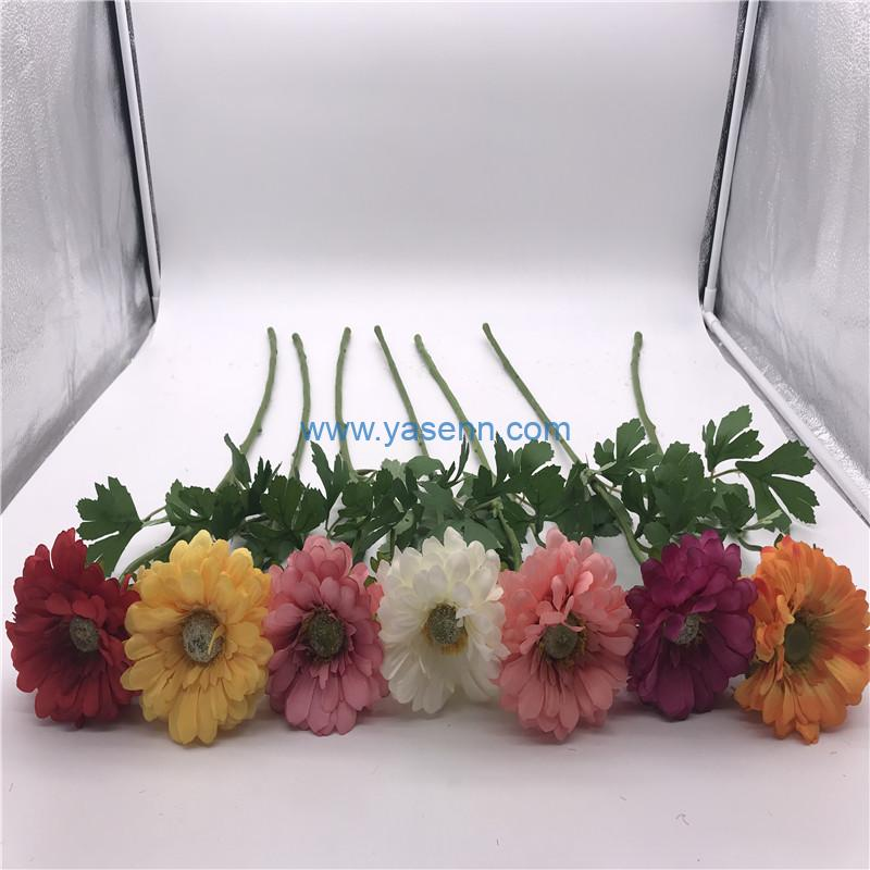 Single Chrysanthemum Silk flowers Silk Flowers Home Furnishing Simulation Plant for Outdoor Cemetery Party Decoration