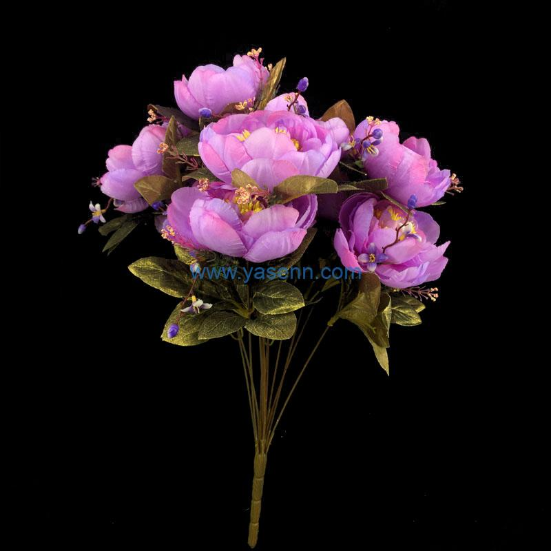 Artificial Flower 13 Branches Peony Lifelike Flowers for Garden DIY Stage Party Home Wedding Craft Decor