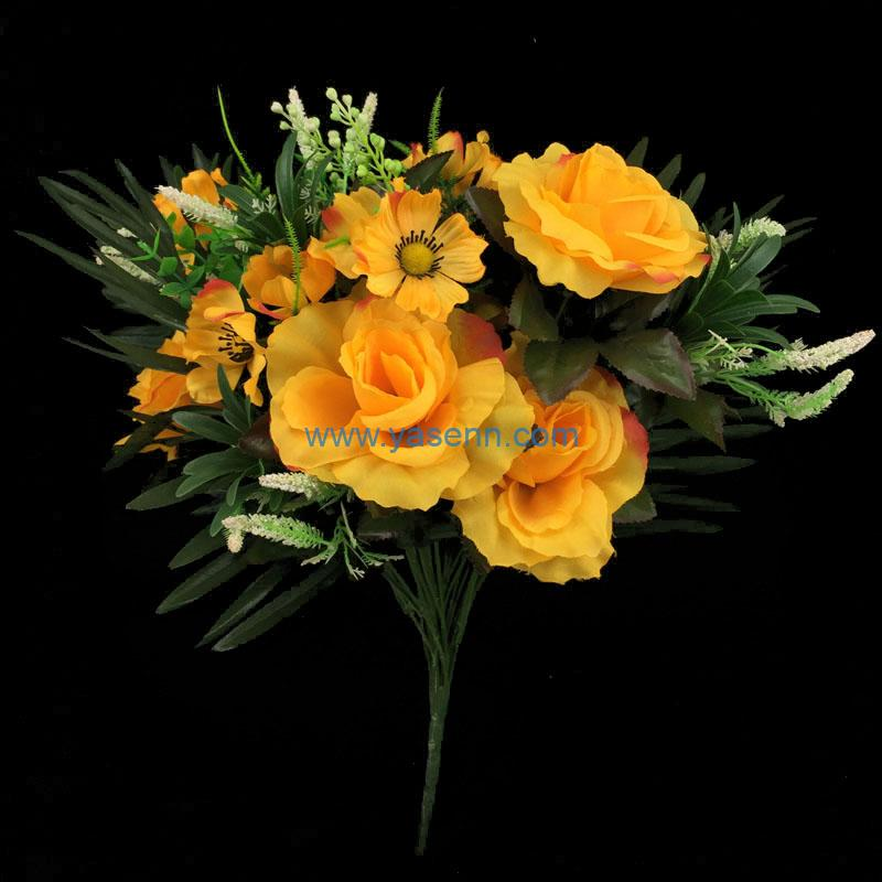 Artificial Bouquet 24 Branches Rose Party Home Hotel Office Decoration Simulation Plant Wedding Balcony Decor