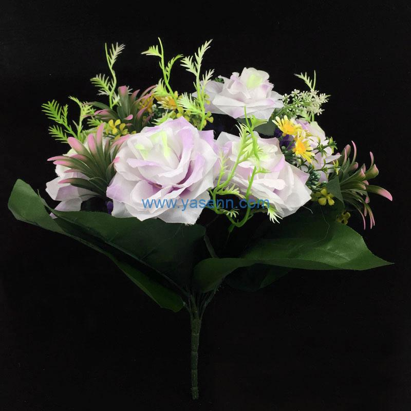 Artificial Bouquet 18 Branches Rose Party Home Hotel Office Decoration Simulation Plant Wedding Balcony Decor