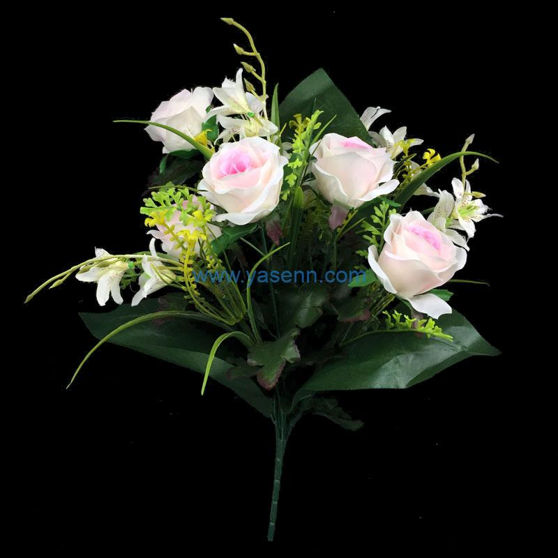 Artificial Bouquet 12 Branches Rose Party Home Hotel Office Decoration Simulation Plant Wedding Balcony Decor
