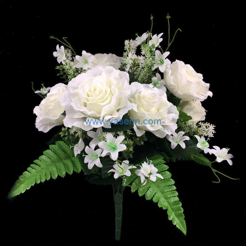 Artificial Silk Flowers 19 Branches Rose for Home Coffee House Parties and Wedding Decoration