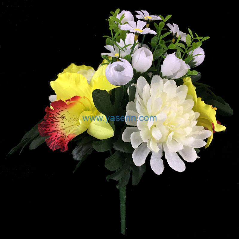 Artificial Flowers 9 Branches Flowers Artificial Silk Bouquet for DIY Wedding Table Centerpiece Home Party Decor