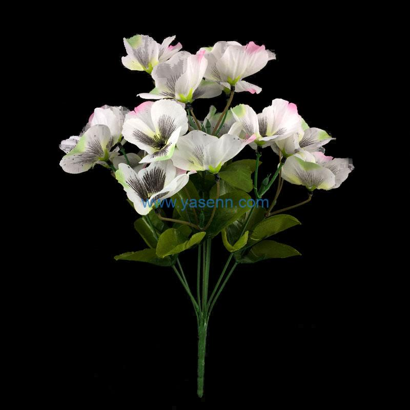 Artificial Flowers 8 Branches Pansy