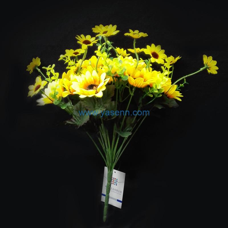Silk Flowers 18 Branches Sun Flowers in Bulk Wholesale Artificial Flowers for Home Wedding Decoration DIY Craft