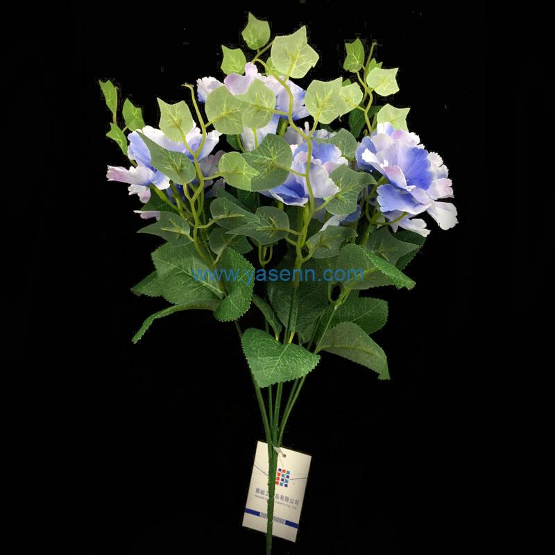 Artificial Bouquets 7 Branches Hydrangea Fake Silk Flowers Decoration for Table Home Office Wedding Parties Bridal