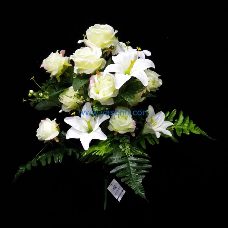 Artificial Bouquets 24 Branches Flowers Fake Silk Flowers Decoration for Table Home Office Wedding Parties Bridal