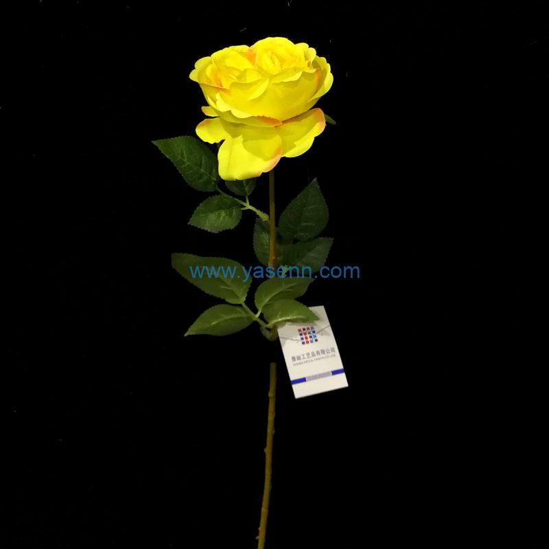 Single Stem Single Peony Artificial Flower Silk Flower with Leaf for Wedding Bridal Party Home Garden Decoration