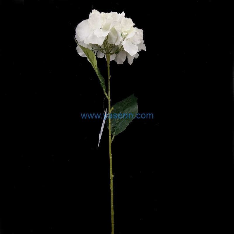 Artificial Flowers Single Hydrangea Faux Stems for Wedding Home Garden Decor Store Opening Hotel Table Decoration