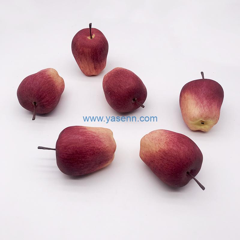 Artificial Red delicious apple Fake Fruit Plastic Lifelike Home Kitchen Party Wedding Decoration Photography
